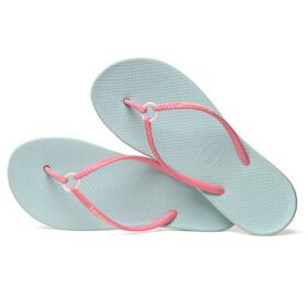 havaianas Ring Sandalen Dames roze/turquoise